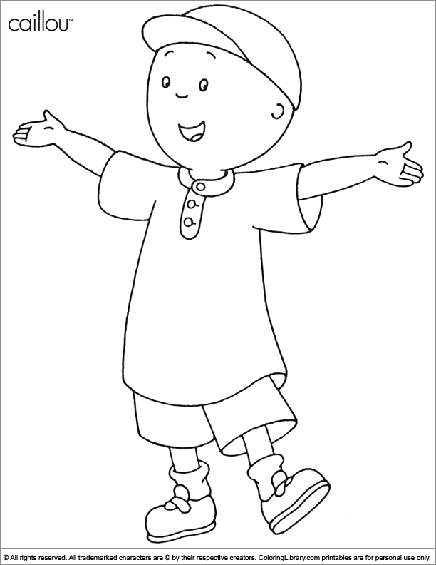 caillou coloring for kids coloring library