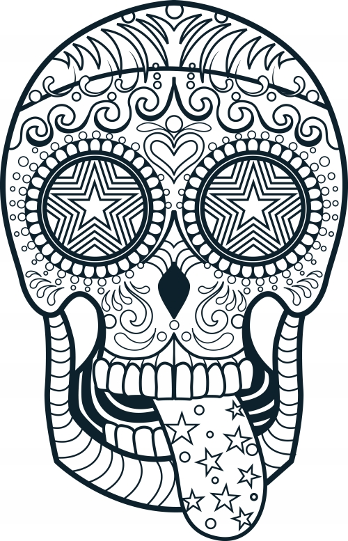 candy skulls coloring pages collection fun for kids