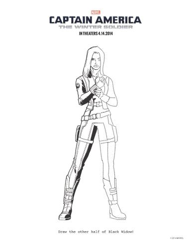 captain america the winter soldier black widow coloring