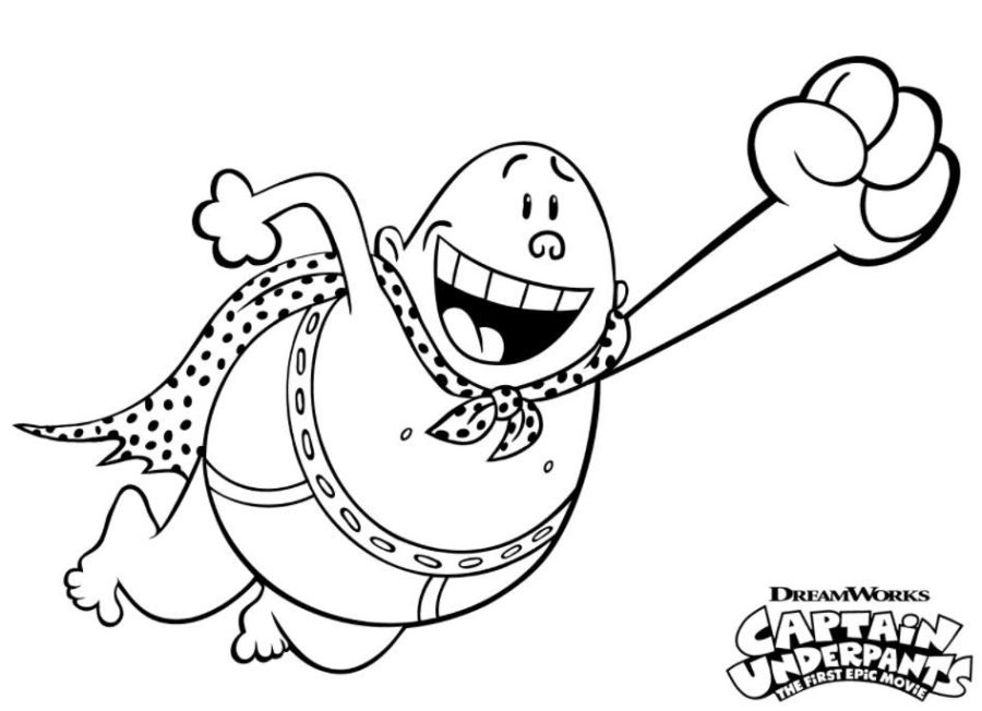 captain underpants colouring cartoon coloring pages