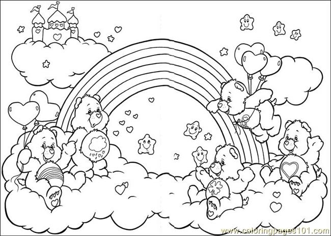 care bears 56 coloring page free the care bears coloring
