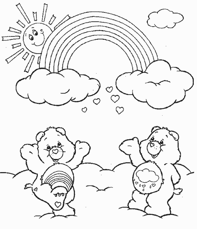 care bears coloring pages learn to coloring
