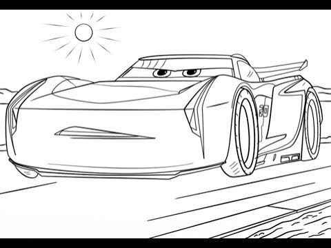 cars 3 jackson storm new best coloring book video for kids