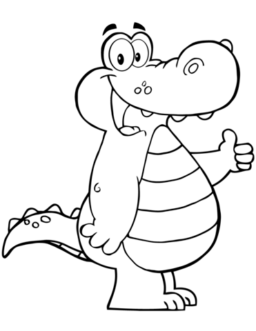 cartoon alligator coloring page free printable coloring pages