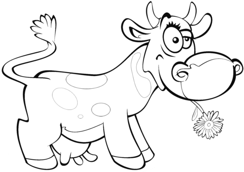 cartoon cow coloring page free printable coloring pages