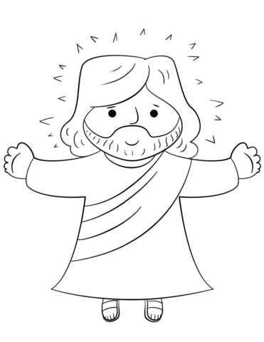 cartoon jesus coloring page free printable coloring pages