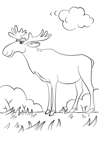 cartoon moose coloring page free printable coloring pages