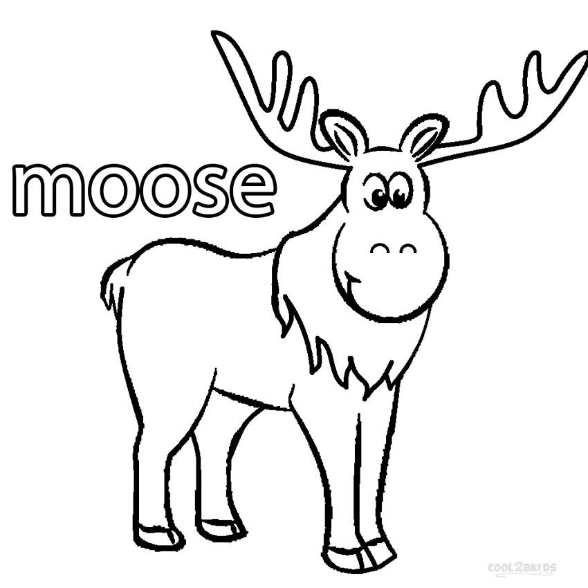cartoon moose coloring pages for free cartoon moose