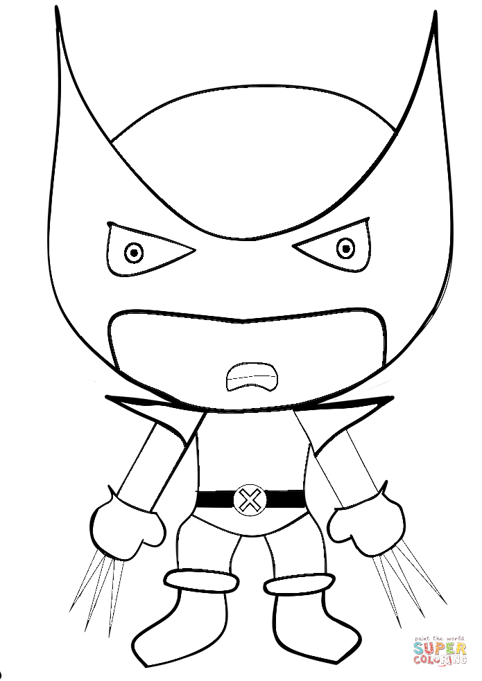 cartoon wolverine coloring page free printable coloring pages