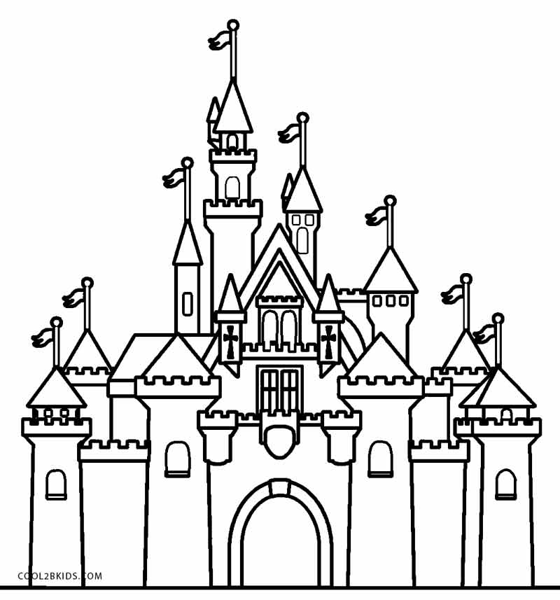 castle coloring pages at getdrawings free for personal