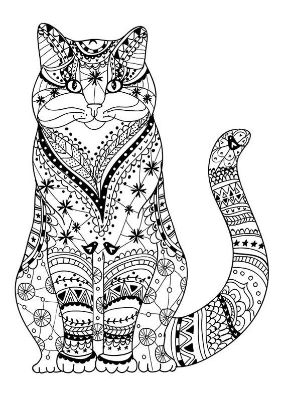 cat coloring page kleurplaaten cat coloring page adult