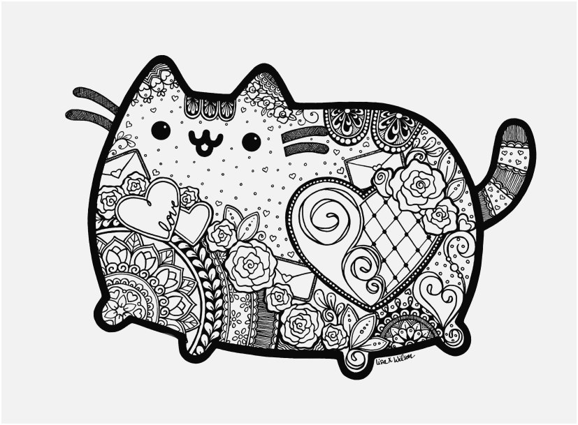 cat coloring pages images pusheen the cat coloring pages