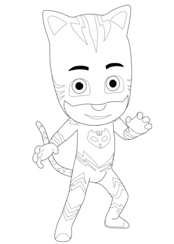 catboy from pj masks coloring page free printable coloring