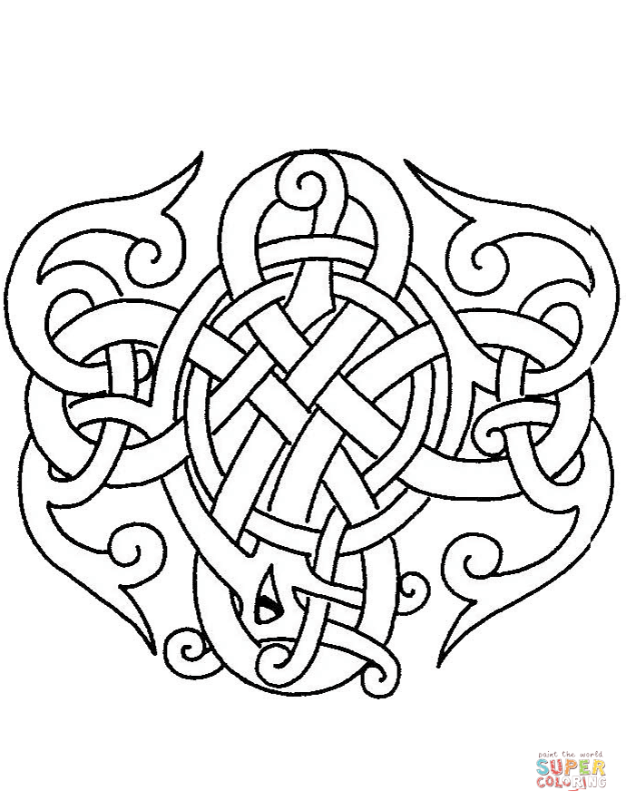celtic art coloring pages free coloring pages