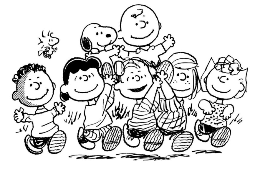 charlie brown characters coloring pages snoopy coloring
