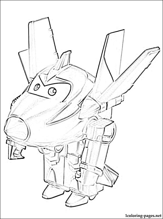 chase super wings coloring pages