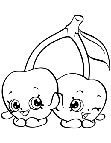 cheeky cherries shopkin coloring page free printable