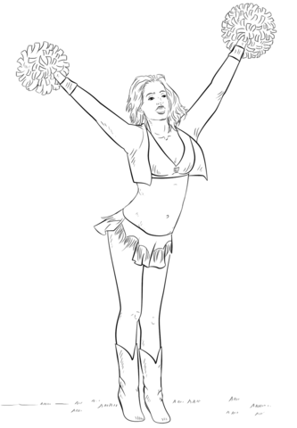 cheerleader coloring page free printable coloring pages