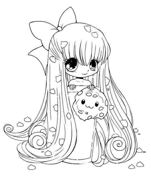 chibi girl coloring pages printable yampuff food chibi girls