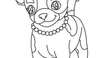 Chihuahua Coloring Pages in 2020 (With images)   Dog coloring page ...   200x350