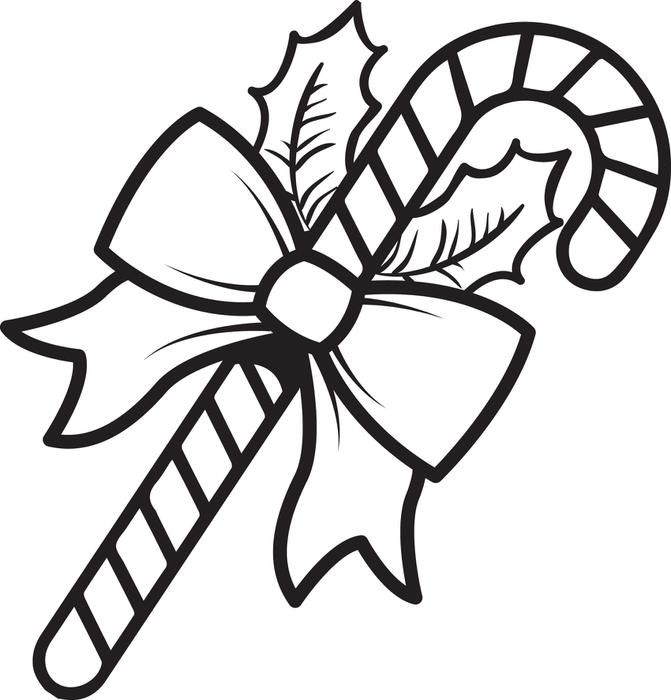 Candy Cane Coloring Pages Picture Whitesbelfast