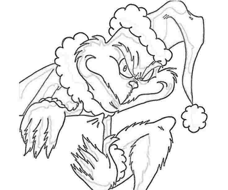 christmas coloring pages printable grinch huangfei