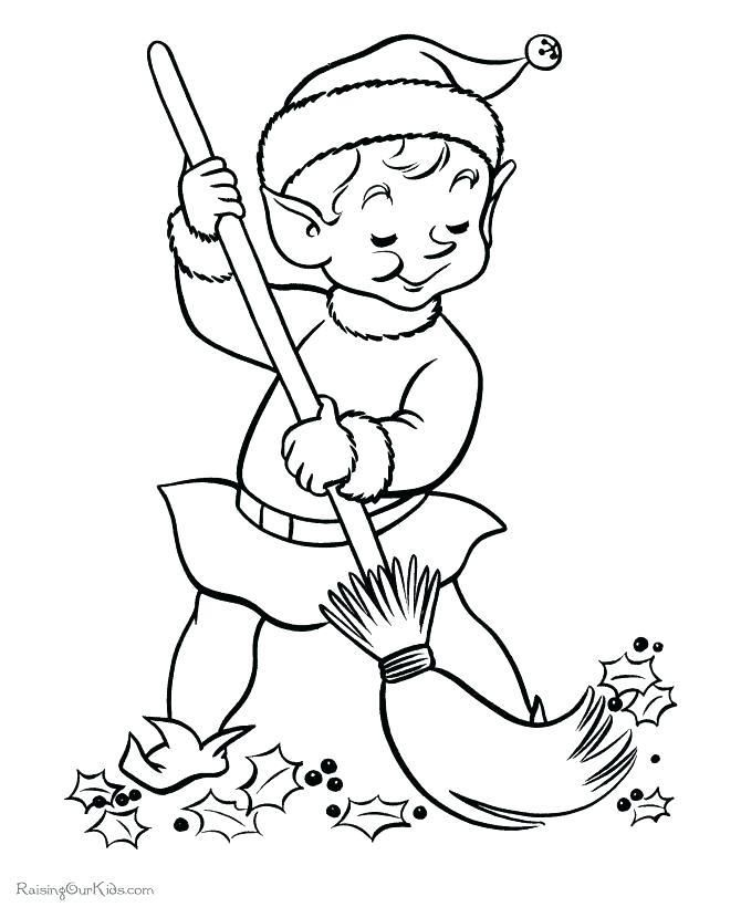 christmas elves coloring pages elf coloring page pages song