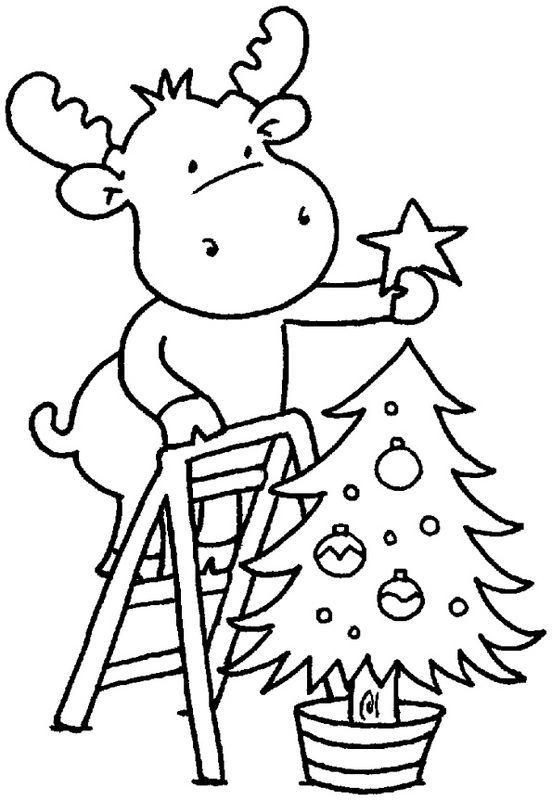 christmas moose coloring page christmas coloring sheets
