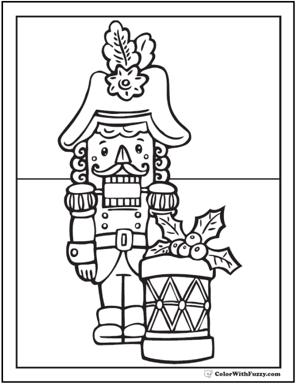 christmas nutcracker coloring pages at getdrawings