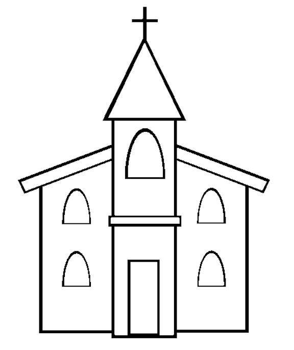 church coloring page preschool church crafts church