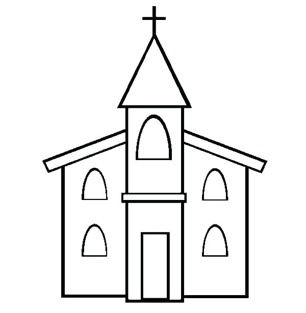 church coloring pages printable