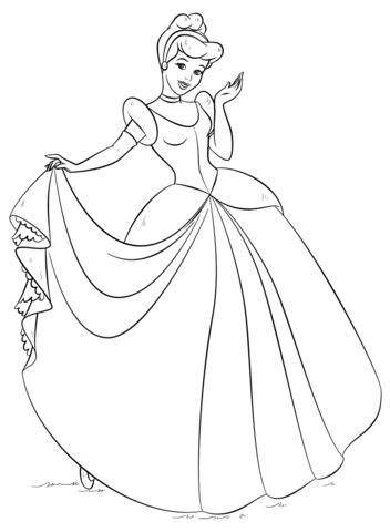 cinderella coloring page free printable coloring pages