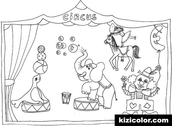 circus 4 kizi free coloring pages for children