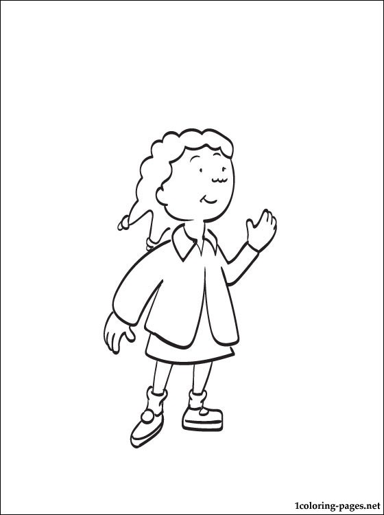 clementine caillou coloring page coloring pages