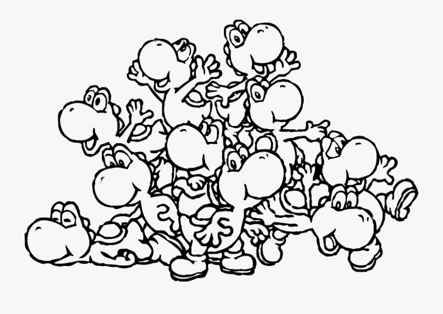clip art pin m page printable yoshi coloring pages