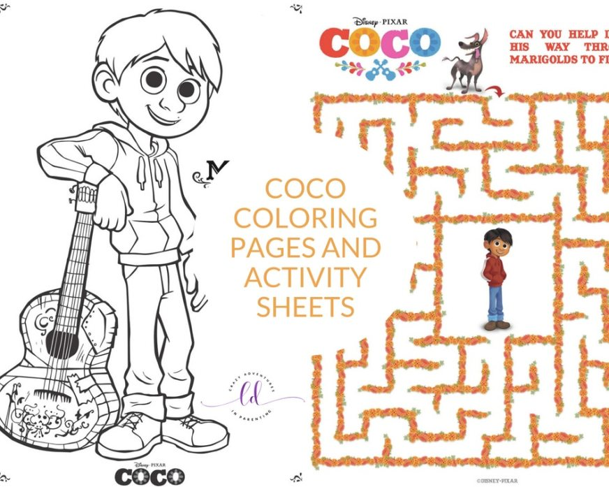 coco coloring pages and activity sheets crazy adventures