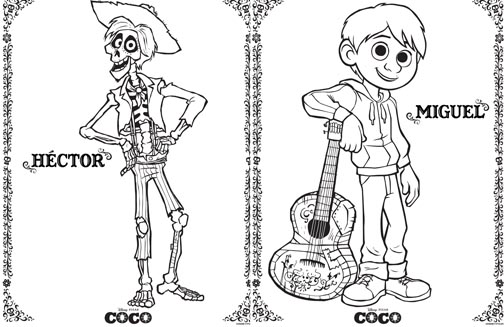 coco coloring pages free printable