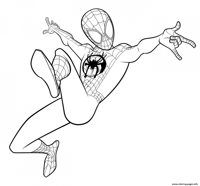 color pages color pages spider colouring in coloringr man