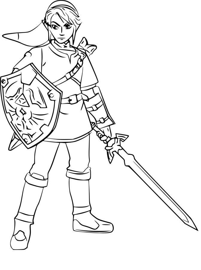 Link Coloring Pages Ideas Whitesbelfast