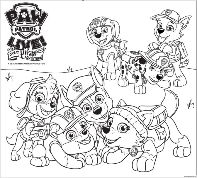coloring book 32 extraordinary paw patrol coloring pages