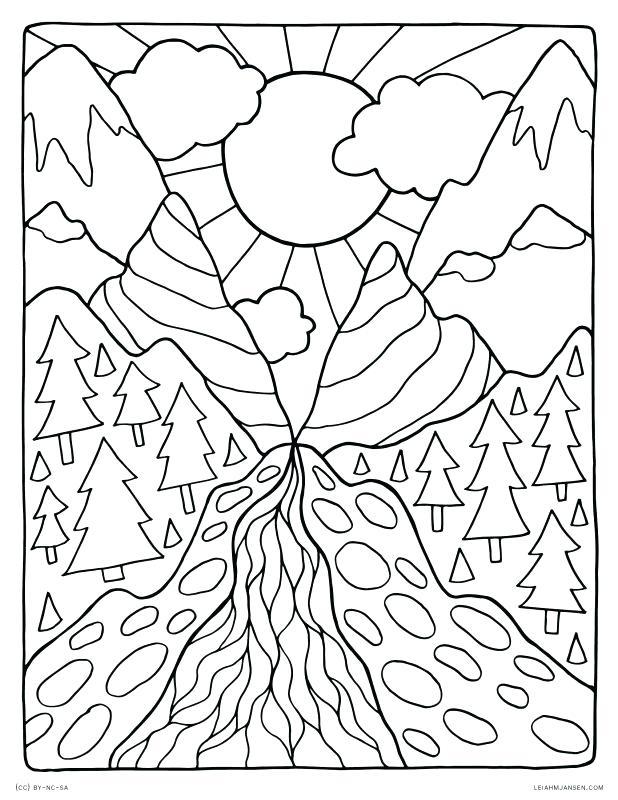 coloring book pages nature pusat hobi