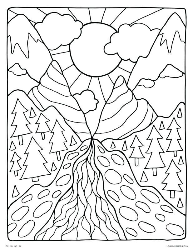 coloring book pages nature pusat hobi