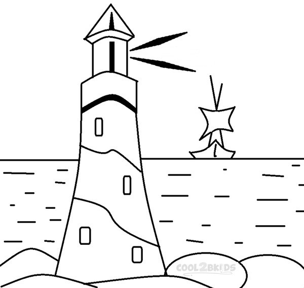 coloring book pages of lighthouses pusat hobi
