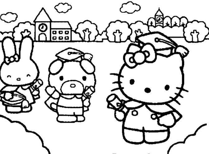 coloring book preschool graduation coloring pages at