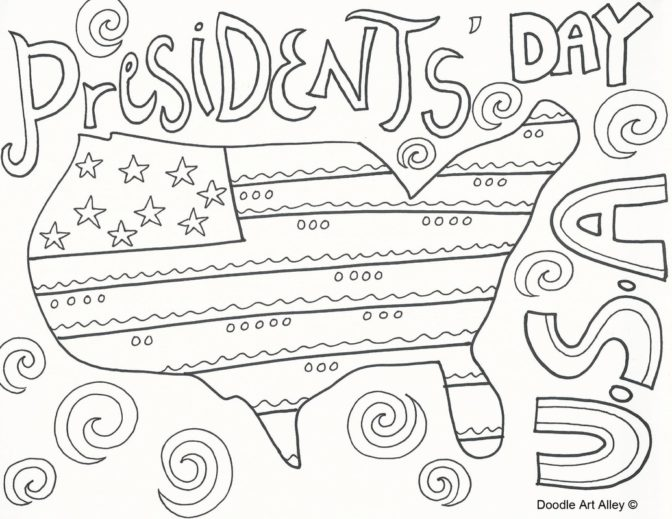 coloring book presidents day coloring pages doodle art