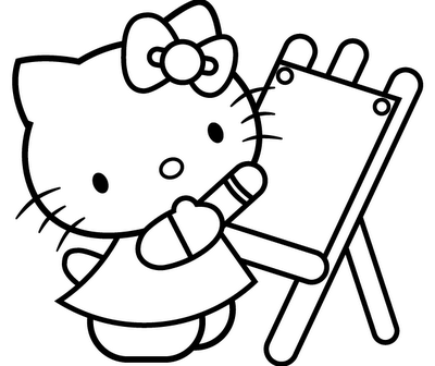 coloring hello kitty coloring pages