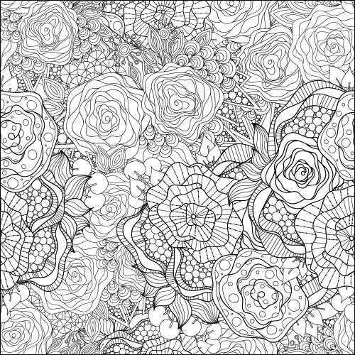coloring page advanced awesome collection cute bird flowers