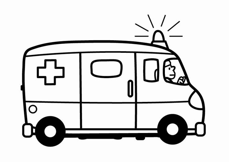 coloring page ambulance coloring pages ambulance drawing