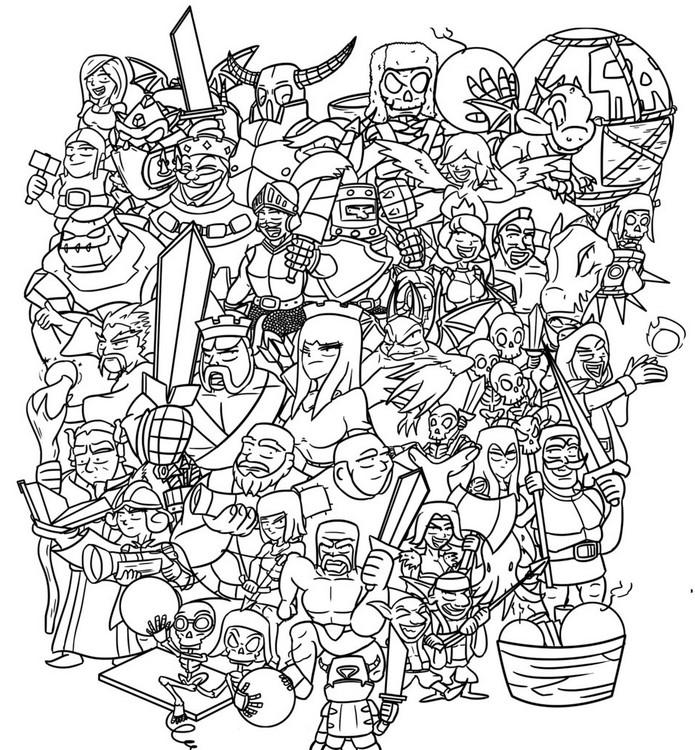 coloring page clash royale clash of clan clash royale 4