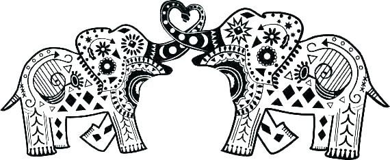 coloring page elephant mandala to color noticiagrapclub